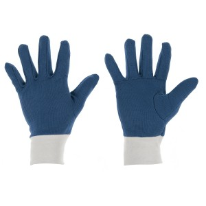 IS WK/INNER COTTON BLUE GLOVES