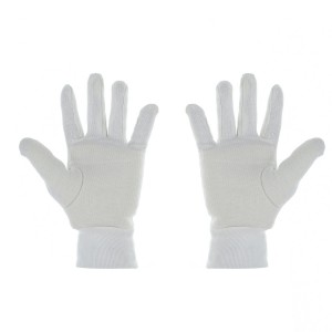 IS WK/INNER GLOVES HVY COTTON WHT